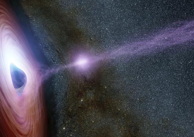 Rappresentazione artistica di un buco nero (fonte: NASA/JPL-Caltech) © Ansa