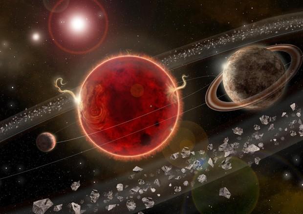 Rappresentazione artistica del sistema planetario di Proxima Centauri (fonte: Lorenzo Santinelli) © Ansa