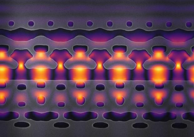 Una sezione del mini acceleratore ingrandita 25.000 volte (fonte: Neil Sapra) © Ansa