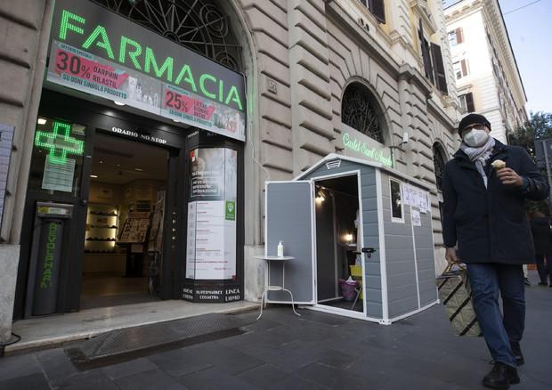 Covid: A Roma casetta prefabbricata per tamponi rapidi © ANSA