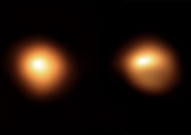 Betelgeuse prima e dopo il calo di luminosità (fonte: ESO ESO/M. Montargès et al) © Ansa