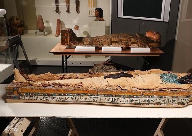 La mummia Takabuti fu probabilmente uccisa da un colpo d'ascia (fonte: Università di Manchester) © Ansa