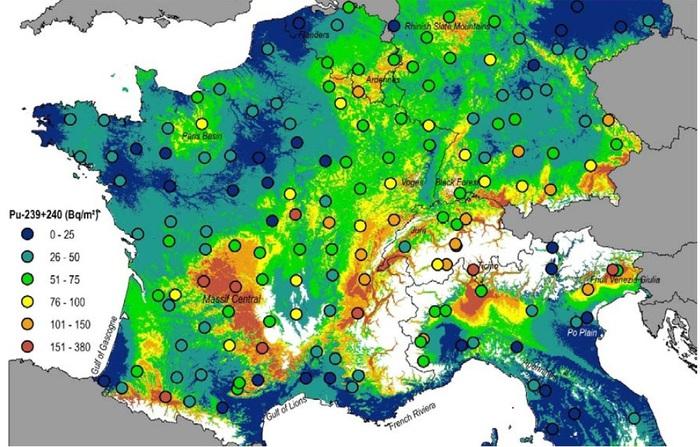Cartina Italia Centrale E Meridionale.La Nuova Mappa Della Contaminazione Radioattiva In Europa Energia Ansa It