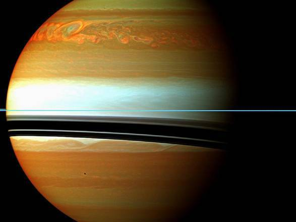 La tempesta nell'emisfero Nord di Saturno ( NASA/JPL-Caltech/Space Science Institute)