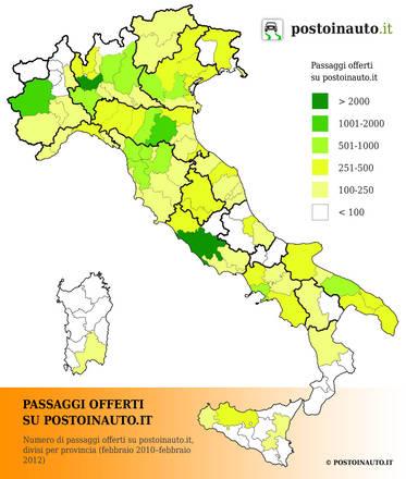 Cartina Italia Anno 500.E Boom Carpooling In Un Anno 100 Mila Posti Auto 138 Analisi E Approfondimenti Motori Ansa It