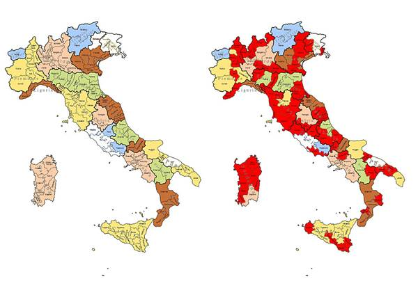 Cartina Dell Italia Con Province.Scheda Salve 43 Province In Citta Metropolitane E Regioni Photostory Primopiano Ansa It