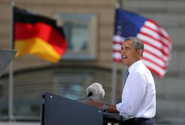 Il discorso di Obama davanti alla Porta di Brandeburgo