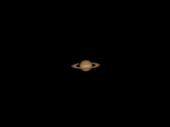 Saturno, protagonista del cielo di maggio (fonte: Samuele Gasparini di Castelfiorentino (Fi) ; www.astrobook.it)