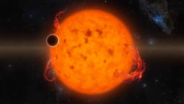 Rappresentazione artistica del baby pianeta K2-33b contro il disco della sua stella (fonte: NASA/JPL-Caltech)