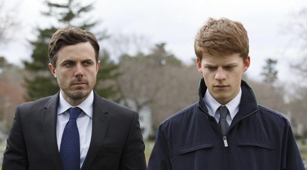 Lucas Hedges, right, and Casey Affleck in a scene from