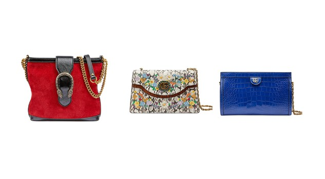 4cf3c689fc La nuova collezione di borse Gucci Cruise propone un look romantico, con  richiami all'oriente e all'iconico stile della maison. Due le nuove linee. La  prima ...