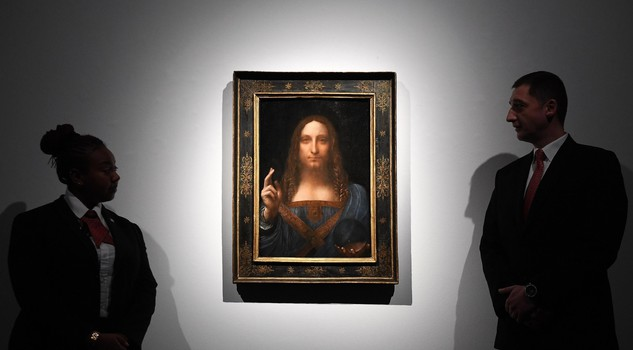 Christie's Auction House sales Leonardo da Viinci's Salvator Mundi [ARCHIVE MATERIAL 20171024 ]