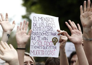 Protest against gang rape sentencing in Spain
