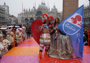 VENICE, CARNIVAL SEASON, THE FLIGHT OF THE EAGLE