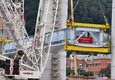 Lifting of the first section of the new motorway bridge in Genoa (ANSA)
