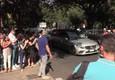 Carra', il corteo funebre davanti alla sede Rai di viale Mazzini © ANSA