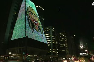 Brasile, le gigantografie a led dell'Urban Nature (ANSA)