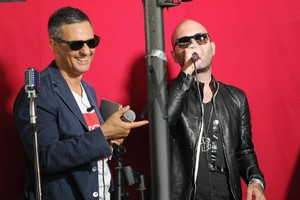 Fiorello e Giuliano Sangiorgi (ANSA)