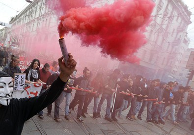 Scontri nel 2019 a Torino, 13 misure cautelari (ANSA)