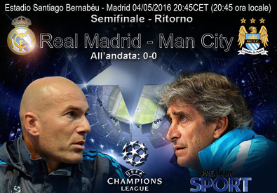 Champions League: Real Madrid-Manchester City (ANSA)