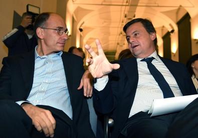 Enrico Letta e Carlo Calenda (ANSA)