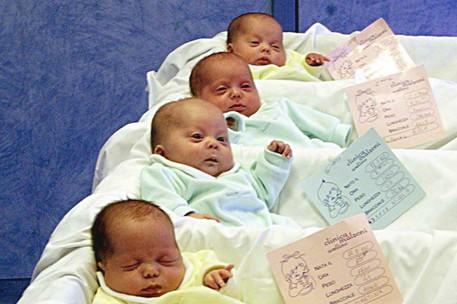 Neonati in una foto di archivio © ANSA