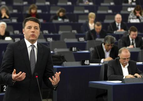 Matteo Renzi a Strasburgo Ap/ Christian Lutz © AP