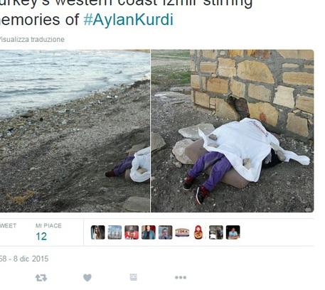 Il corpo della bimba siriana trovata sulla spiaggia di Pirlanta, Turchia © Ansa