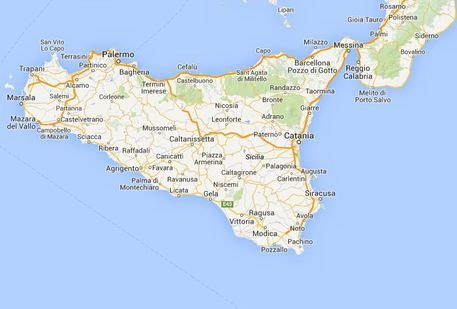 Cartina Sicilia Satellite.Cede Pilone Frana Anche Su Google Maps Sicilia Ansa It