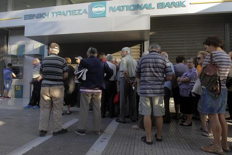 Banche chiuse in Grecia © EPA