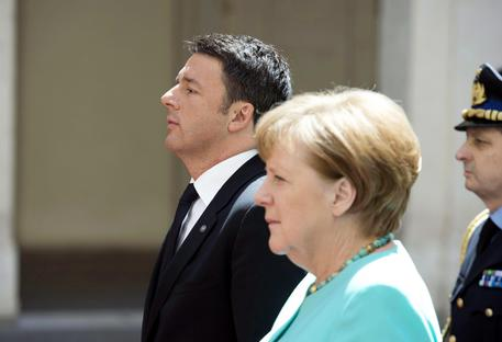 Angela Merkel e Matteo Renzi ANSA/TIBERIO BARCHIELLI / CHIGI PALACE PRESS OFFICE © EPA