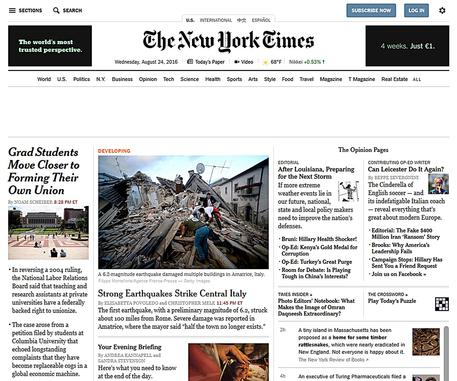 The New York Times © ANSA