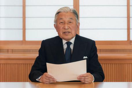 Il video messaggio dell'imperatore Akihito © EPA