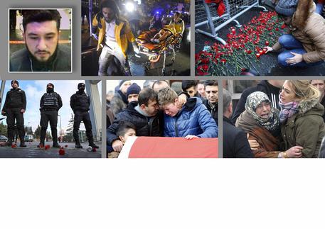 Nel riquadro a sinistra il killer della strage di Istanbul © ANSA