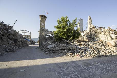 Nuove Bandiere Su Torre Civica Amatrice Sisma Ricostruzione