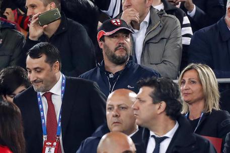 Matteo Salvini allo stadio © ANSA