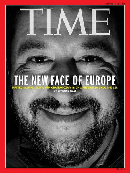 Salvini on Time cover. (foto: ANSA)