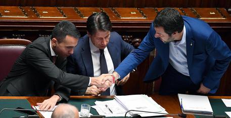 Matteo Salvini, Luigi Di Maio e Antonio Conte © ANSA