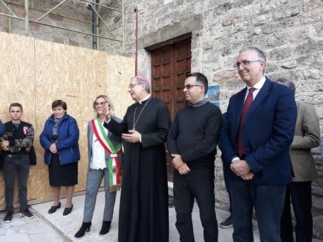riapertura Chiesa di San Biagio, Montemonaco - Fonte Foto: ANSA
