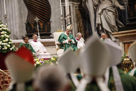 Il Papa durante una messa in S. Pietro © ANSA