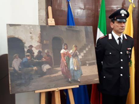 Torna a Napoli quadro rubato dopo guerra
