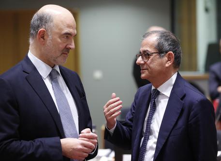 Moscovici e Tria in una foto di archivio © ANSA