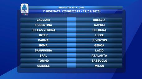 Calendario Del Campionato Di Calcio Di Serie A 2019 2020 Calcio Ansa