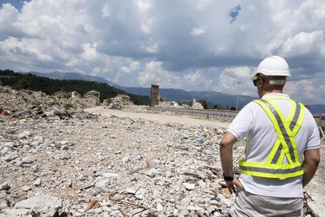 Le macerie nella Zona Rossa di Amatrice il 10 agosto 2018 a distanza di due anni dal terremoto del Centro Italia - Fonte foto: ANSA