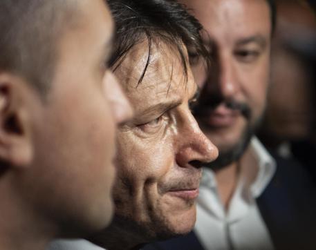 Di Maio, Conte e Salvini in una foto di archivio © ANSA