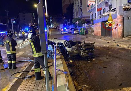 Incidente stradale a Genova © ANSA