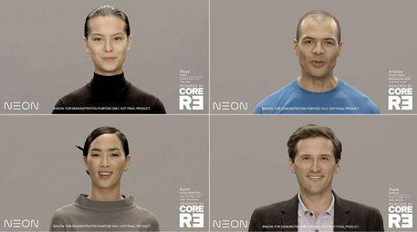 Samsung lancia Neon, replica digitale di un essere umano