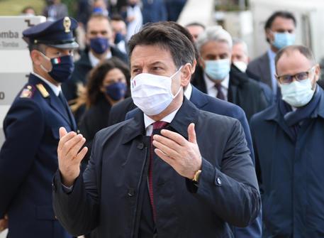 Italian Premier Conte in Assisi for celebrations Saint Francis © ANSA