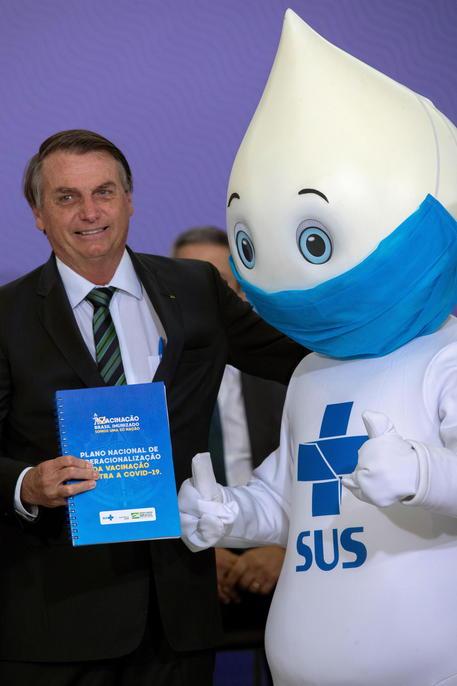 Covid: Bolsonaro festeggia l'arrivo dei vaccini dall'India