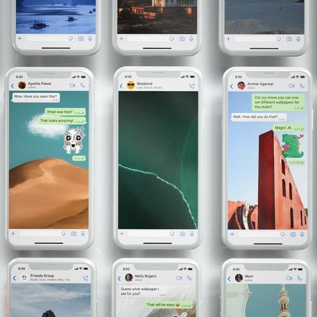 WhatsApp introduce sfondi personalizzati per le chat © ANSA